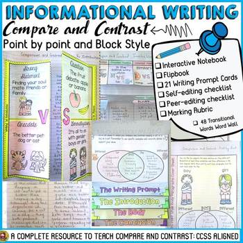 INFORMATIONAL/INFORMATIVE ESSAY WRITING: COMPARE AND CONTRAST CCSS ALIGNED