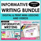 INFORMATIVE WRITING BUNDLE- Digital | Printable | Videos -