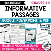 INFORMATIVE WRITING PROMPTS - INFORMATIVE WRITING PASSAGES   DISTANCE LEARNING