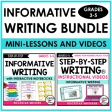INFORMATIVE WRITING UNIT WITH INFORMATIVE MINI-LESSON VIDE