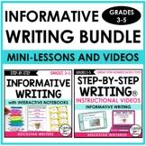 INFORMATIVE WRITING UNIT WITH INFORMATIVE MINI-LESSON VIDE