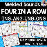 """Welded/Glued Sounds Game: """"Four in a Row"""" [ING ANG UNG ONG]"""