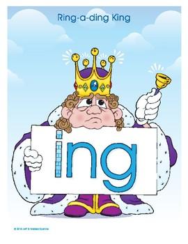 ING (Ring-a-ding King) Word Buddy Poster
