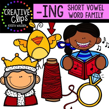 ING Short I Word Family {Creative Clips Digital Clipart}