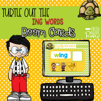 ING WORD ENDINGS TURTLE OUT THE WORD DIGITAL Task BOOM CARDS