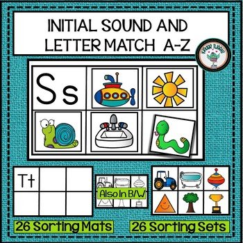 INITIAL SOUND AND LETTER MATCH ALPHABET ACTIVITY PHONICS AND PHONEMIC AWARENESS