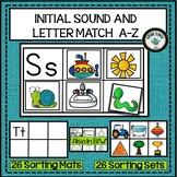 INITIAL SOUND AND LETTER MATCH ALPHABET ACTIVITY PHONICS A