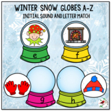 INITIAL SOUND AND LETTER MATCH WINTER THEME SNOW GLOBES