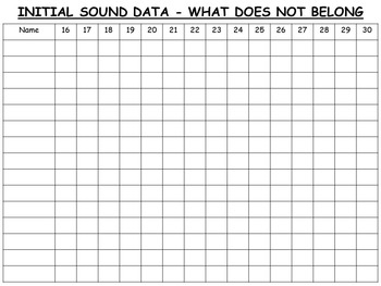INITIAL SOUND AWARENESS - WHAT DOES NOT BELONG?