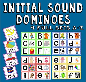INITIAL SOUNDS DOMINOES -LITERACY EARLY YEARS EYFS KS1 ENGLISH ALPHABET