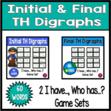 Digraphs Game Pack Beginning and Ending Th Words