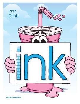 INK (Pink Drink) Word Buddy Poster