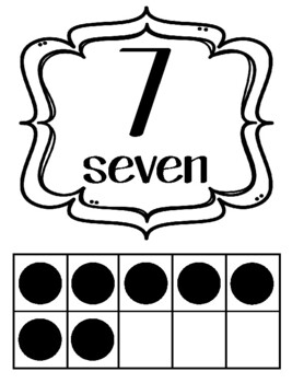 INK SAVER/White Classroom Ten Frames Posters 0-20