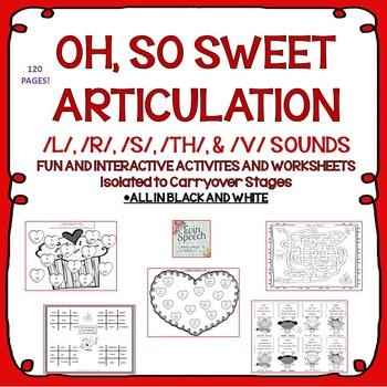 NO PREP Valentine's Day Articulation: /L/, /R/, /S/, /TH/, & /V/ SOUNDS