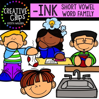 INK Short I Word Family {Creative Clips Digital Clipart}