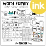 INK Word Family Activities