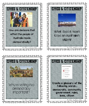 INQUIRING MINDS - QUESTION OF THE DAY - Civics & Citizenship - PDF