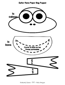 INSECTOS Spanish frog craftivity - Insects in Spanish