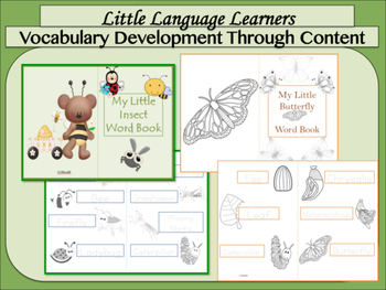 ESL Activities: INSECTS Vocabulary/Concept Development-ESL Newcomers Too!