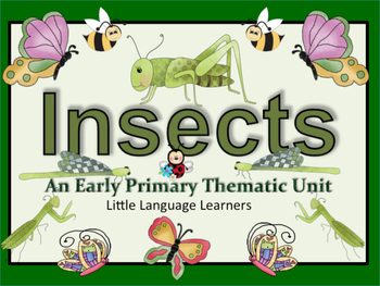 ESL Activities: INSECTS Vocabulary/Concept Development-ESL