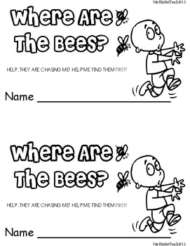 INSECTS/ BEES POSITIONAL WORD EMERGENT PRINTABLE READER*GREAT FOR READ TO SELF!