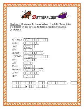 INSECTS: BUTTERFLIES