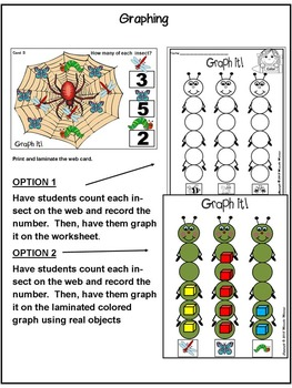 INSECTS-GRAPHING Math Center Activities-Graphing & Data Cards
