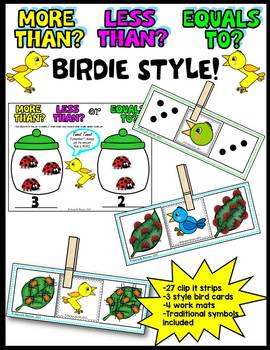 INSECTS-MORE THAN-LESS THAN- Math Center Activity CCSS