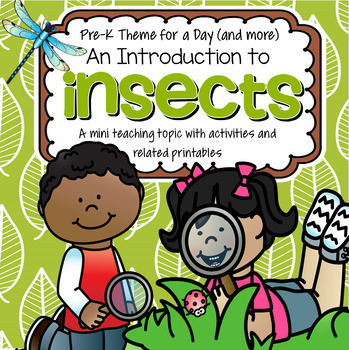 INSECTS Math, Science and Literacy Centers and Activities for Preschool