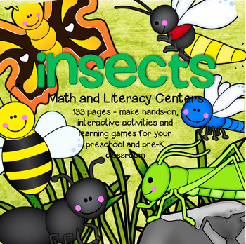 INSECTS Math and Literacy Centers and Activities for Presc