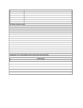 INSERT YOUR OWN READING PASSAGE WORKSHEET TEMPLATE