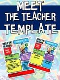 INSIDE OUT MEET THE TEACHER NEWSLETTER TEMPLATE EDITABLE B