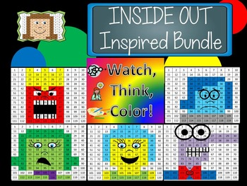 INSIDE OUT Watch, Think, Color Games - EXPANDING BUNDLE