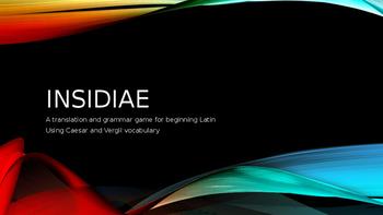 INSIDIAE: Beginning Latin Grammar and Translation Game