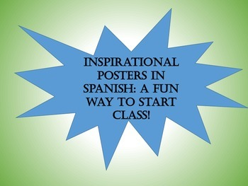 Unique Warmup for Spanish Class: Inspirational Posters of Costa Rica in Spanish