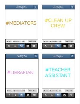 INSTA-HELP CLASSROOM JOB CHART