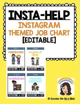 INSTA-HELP INSTAGRAM THEMED JOB CHART WITH CLIP ART