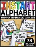 INSTANT Alphabet Hands-On Task Cards