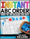 INSTANT Alphabet Order Task Mats
