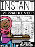 INSTANT CVC Practice Sheets | FREE DOWNLOAD |