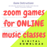 INSTANT DIGITAL DOWNLOAD_Zoom Music Class Piano Solfege Game