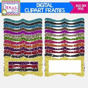 Digital Frames - Glitter Digital Frames {COMMERCIAL USE}
