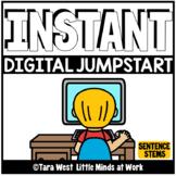 INSTANT Digital Jumpstart Games: 250 SENTENCE STEMS SEESAW