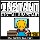 INSTANT Digital Jumpstart Games: 250 SENTENCE STEMS SEESAW