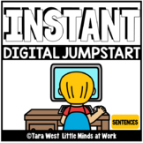 INSTANT Digital Jumpstart Sentences Pre-Loaded to SEESAW &