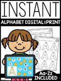 INSTANT Digital + Print Alphabet Practice | Google Slides