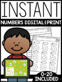 INSTANT Digital + Print Numbers Practice | Google SLIDES a