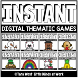 INSTANT Digital THEMATIC Games PRE-LOADED TO SEESAW & GOOGLE SLIDES