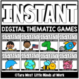 INSTANT Digital THEMATIC Mini Games PRE-LOADED TO SEESAW &