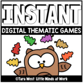 INSTANT Digital THEMATIC OWLS Games PRE-LOADED TO SEESAW &